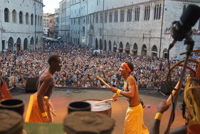 Juakali Drummers au Festival Umbria Jazz 2009 à Pérouse (Italie)