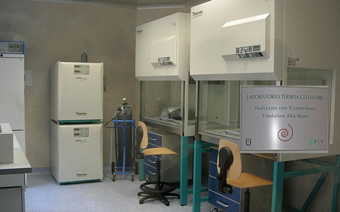 Laboratorio di terapia cellulare, Università Tor Vergata (Roma), Italia